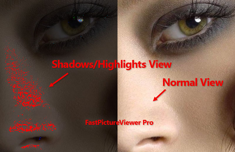 FastPictureViewer Professional Lost Shadows/Highlights View
